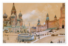Premiumposter  Moscow (Kremlin and St. Basil's Cathedral) - Albert Edelfelt
