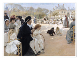 Premiumposter In the Luxembourg Gardens