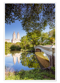 Premiumposter  Famous bow bridge in Central Park, New York city, USA - Matteo Colombo