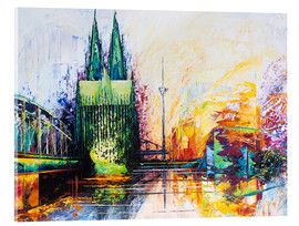 Akrylglastavla  Cologne Cathedral Skyline colored - Renate Berghaus