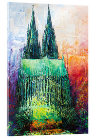 Akrylglastavla  Cologne Cathedral Abstract - Renate Berghaus