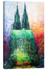 Canvastavla  Cologne Cathedral Abstract - Renate Berghaus