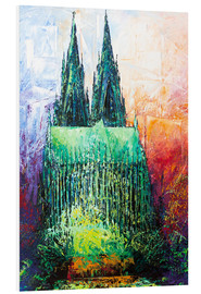 PVC-tavla  Cologne Cathedral Abstract - Renate Berghaus