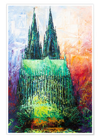 Premiumposter  Cologne Cathedral Abstract - Renate Berghaus