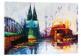 Akrylglastavla  Cologne Cathedral Skyline - Renate Berghaus