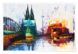 Premiumposter  Cologne Cathedral Skyline - Renate Berghaus