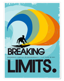 Premiumposter  Surfer, Breaking limits - 2ToastDesign