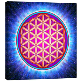 Canvastavla  Flower Of Life - Primal Energy - Dirk Czarnota