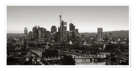 Premiumposter  Frankfurt skyline black and white - rclassen