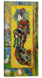 Canvastavla  Japonaiserie: Courtesan or Oiran - Vincent van Gogh
