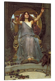 Aluminiumtavla  Circe Offering the Cup to Ulysses - John William Waterhouse