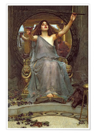 Premiumposter  Circe Offering the Cup to Ulysses - John William Waterhouse
