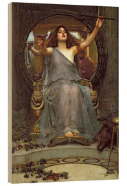 Trätavla  Circe Offering the Cup to Ulysses - John William Waterhouse
