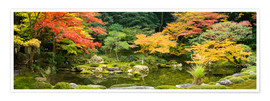 Poster Japanese garden in autumn