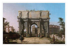 Premiumposter Arch of Constantine with the Colosseum