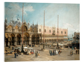 Akrylglastavla  The Square of Saint Mark's - Antonio Canaletto