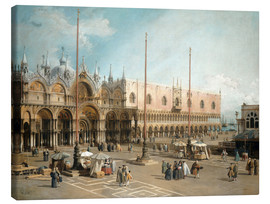 Canvastavla  The Square of Saint Mark's - Antonio Canaletto