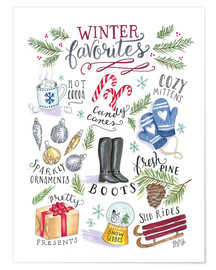 Poster  Winter favourites - Lily & Val