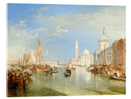 Akrylglastavla  Venice: The Dogana and San Giorgio Maggiore - Joseph Mallord William Turner