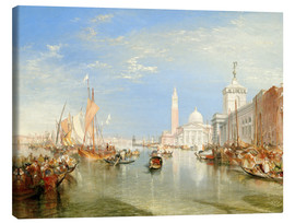 Canvastavla  Venice: The Dogana and San Giorgio Maggiore - Joseph Mallord William Turner