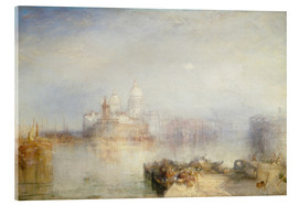 Akrylglastavla  The Dogana and Santa Maria della Salute - Joseph Mallord William Turner