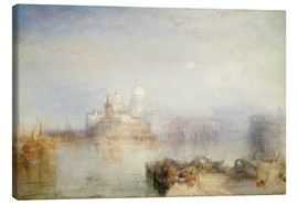 Canvastavla  The Dogana and Santa Maria della Salute - Joseph Mallord William Turner