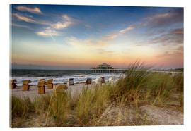 Akrylglastavla  Timmendorfer beach on the Baltic coast - Filtergrafia