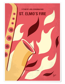 Poster My St Elmos Fire minimal movie poster