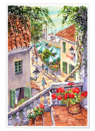 Premiumposter  Harbour Steps - Paul Simmons