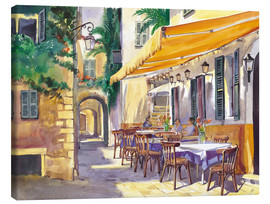 Canvastavla  Café Provence - Paul Simmons