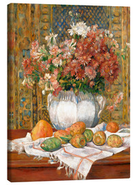 Canvastavla  Still Life with Flowers and Prickly Pears - Pierre-Auguste Renoir