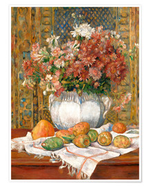 Premiumposter  Still Life with Flowers and Prickly Pears - Pierre-Auguste Renoir