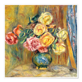 Poster Roses in a vase