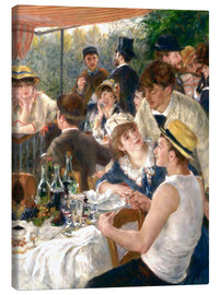 Canvastavla  Luncheon of the Boating (Detail) - Pierre-Auguste Renoir