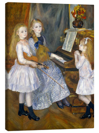 Canvastavla  The Daughters of Catulle Mendès - Pierre-Auguste Renoir