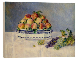 Trätavla  Still life with peaches and grapes - Pierre-Auguste Renoir