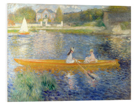 PVC-tavla  The Seine at Asnieres - Pierre-Auguste Renoir