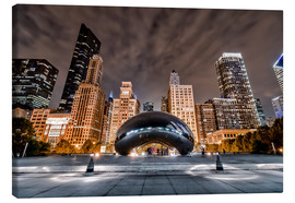 Canvastavla  Cloud Gate Chicago - Sören Bartosch