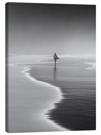 Canvastavla  Lone surfer at the beach - Alex Saberi