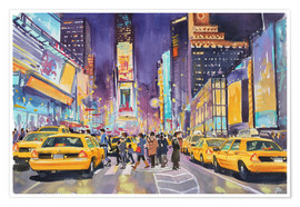 Premiumposter  Times Square at night - Paul Simmons