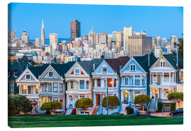 Canvastavla  Painted Ladies, San Francisco