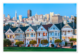 Premiumposter  Painted Ladies, San Francisco