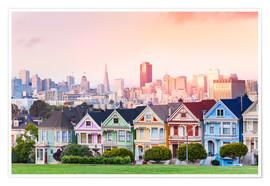 Premiumposter  Painted Ladies in the evening