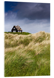 Akrylglastavla  Cottage in the dunes during storm