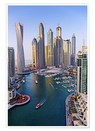 Premiumposter Dubai Marina from above
