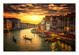 Premiumposter Grand Canal at sunset