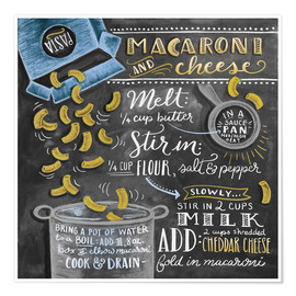 Premiumposter  Macaroni and Cheese recept - Lily & Val