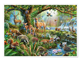 Poster  Woodland Creatures - Adrian Chesterman