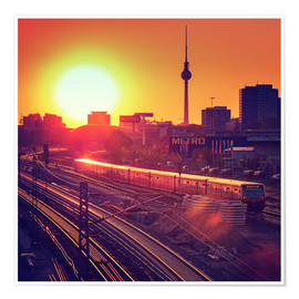 Premiumposter  Berlin - Sunset Skyline - Alexander Voss