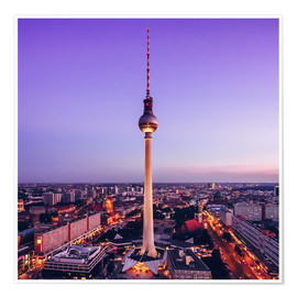 Premiumposter Berlin - TV Tower Skyline